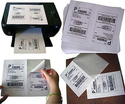 1,600 Half-Sheet Internet Shipping Labels for eBay/USPS