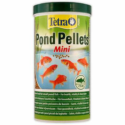 TETRA POND PELLETS MINI 1L 260g FISH FOOD HEALTH VITALITY GOLDFISH KOI TETRAPOND