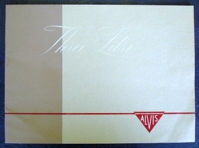 Alvis Three Litre Saloon & Coupe Brochure 1950's.