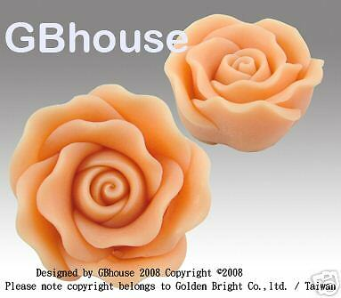 Floating Rose  - Silicone soap / candle Mold