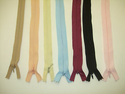 Zips in various colours