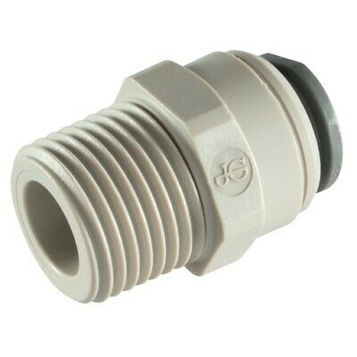 "JG 1/4"" BSP  x  1/4""  Push Fit straight  pipe Connector"