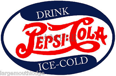 PEPSI VINTAGE STYLE OVAL DECAL GUMBALL MACHINE 4""