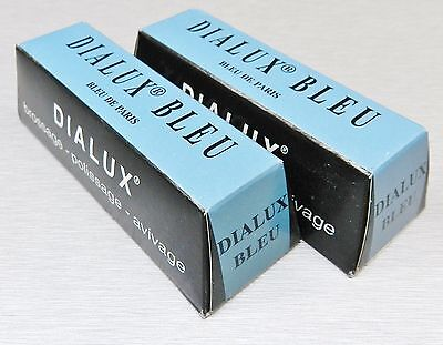 JEWELRY POLISHING COMPOUND DIALUX BLUE METAL POLISH ROUGE FINAL FINISH 2 Bars