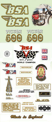 1971: B50T - FULL DECAL SET-  BSA Victor Trail Decals