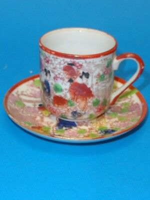 Antique Early - Mid 20c. Japanese Porcelain Tea Cup & Saucer