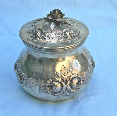 1840's Austrian Sterling Silver repouse Tea Caddy   MAGNIFICENT
