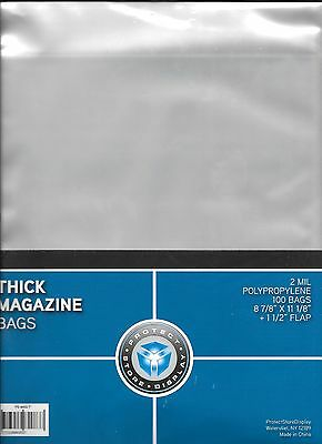 10 Thick Magazine Size Collector Bags Archival Safe Brand New