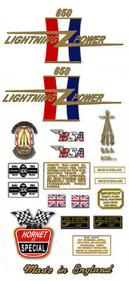 1967: A65H TT - DECAL SET - BSA  Hornet TT Special