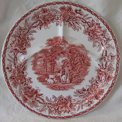 Booths BRITISH SCENERY Pink Red Grill Plate Nice