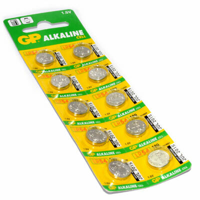 10 x GP Alkaline Cell Battery LR54 189 V10GA D189A 1.5V