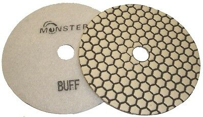 "5"" Monster Dry Diamond Polishing Pad - White Buff"
