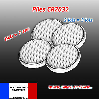 Lot 4 Piles bouton CR2032 CR 2032 Lithium PC calculatrice télécommande voiture