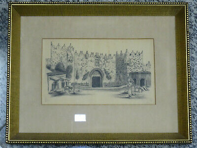 JACOB EISENBERG SIGNED Etching Jerusalem Bezalel