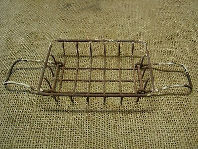 Vintage Metal Wire Basket Soap Dish   Antique Old RARE