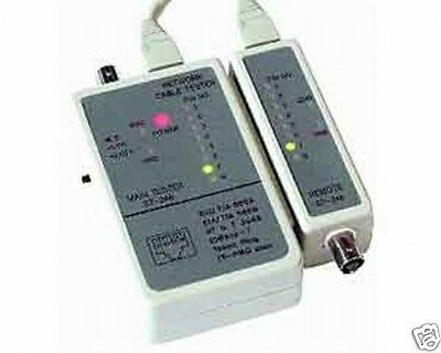 Network LAN Cable Lead Tester RJ45 & BNC Cat5/Cat 5/6