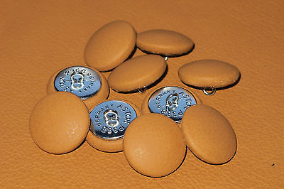 10 Upholstery buttons Light Tan Real Scottish leather