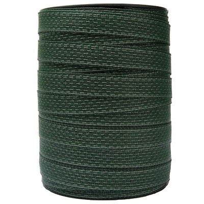 ELECTRIC FENCE POLY TAPE - 40mm Green 200m Roll Fencing 8 x 0.16mm SS Conductors
