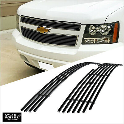 For 07-14 Chevy Tahoe/Suburban/Avalanche Black Billet Grill