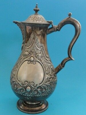 "ANTIQUE MAPPIN BROTHERS Sheffield Plate Pitcher #583 ~ 10"" H"