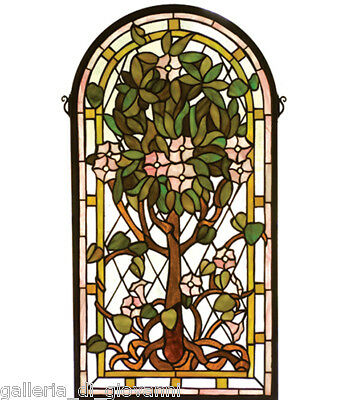 Tree of Life Tiffany Style Stained Glass Window