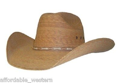 35-Q Toasted COWBOY HAT ~ Western PALM LEAF Straw ~ Leather Hatband -  Cattleman cb69c579b89