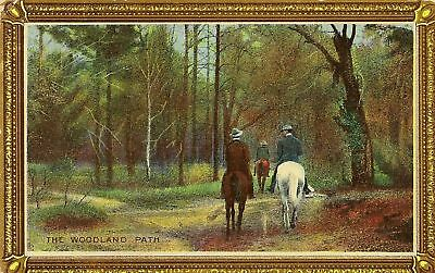 Cpa Angleterre The Woodland Path