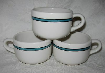 Syracuse Trend Blue Stripe Band Restaurant Ware Cups 3