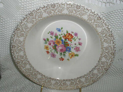 "Royal China Royal Heirloom 22kGold Serving Bowl 9"" Bowl"