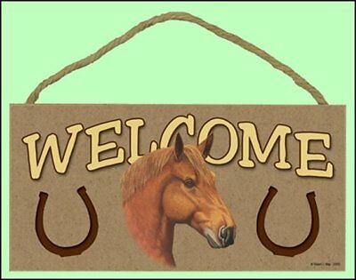 Horse 10x5 Wooden Welcome Sign Style 5 (see pic) New!