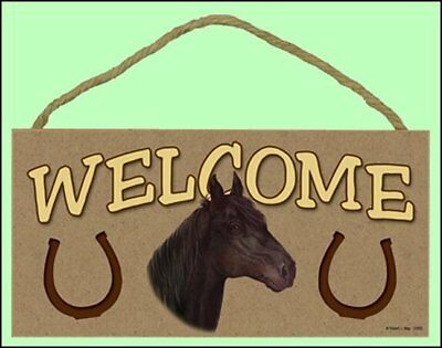 Horse 10x5 Wooden Welcome Sign Style 8 (see pic) New!