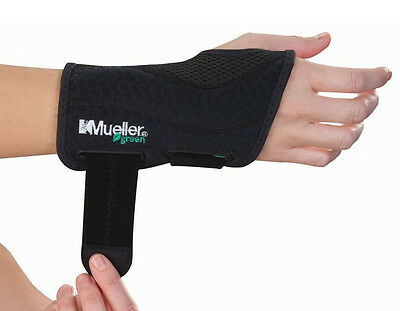 Mueller Sports Green Fitted Wrist Brace Right / Left 86271 86272 86273 86274