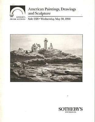 Sotheby's American Paintings & Sculpture Auction Catalog 1990