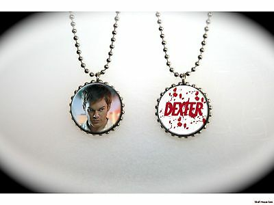 DEXTER sly serial killer hero -  2 sided necklace
