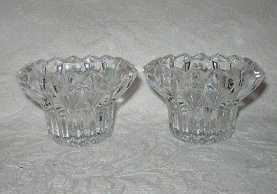 Cristal D'Arques CHEVERNY Candle Holders Candlesticks 2
