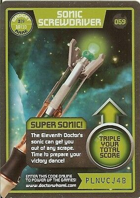 Dr Who Monster Invasion Test Rare 059 Sonic Screwdriver