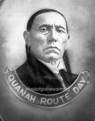 Photo 1900s Quanah Route Day Native American Indian