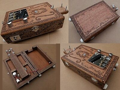 Fully Loaded Pro 6 String Electric Cigar Box Guitar Opening Body w/mahogany core