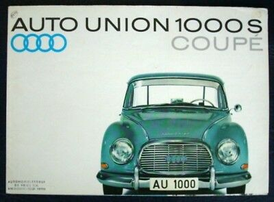 Auto Union 1000 S Coupe Sales Brochure C 1960 (Dutch).