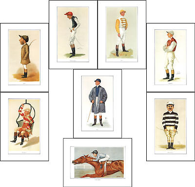 Jockeys - Set  Of  8  Jockeys  Of  Vanity  Fair  Prints  -  (Reproductions)