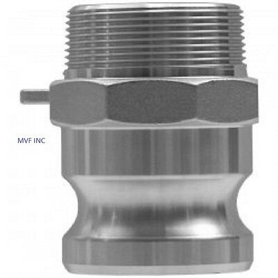 """4"""" Type F Camlock Male Adapter x Male NPT 304 Stainless Hose Fitting <F400SS304"""