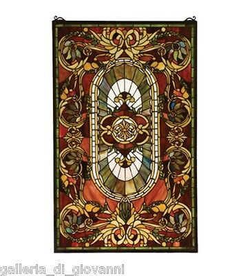 Royal Castle Stained Glass Window  Estate Design Amber