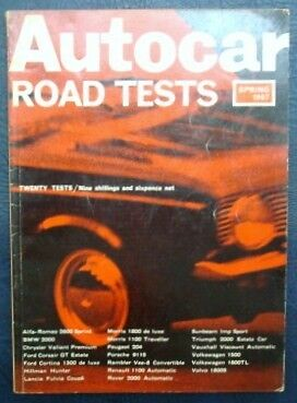 'the Autocar' Road Tests Spring 1967.