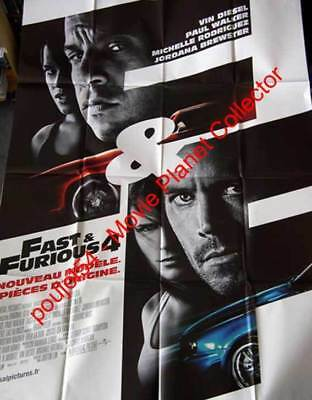 FAST AND FURIOUS 4 - Diesel Walker  47x63 FRENCH POSTER