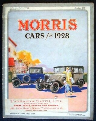 Morris Cars 1928 Sales Brochure Cowley Oxford Vans
