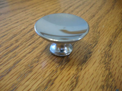 "VTG NOS AMEROCK Round CHROME KNOBS DRAWER PULLS  1-1/2"" DIA CONCAVE DISHED"