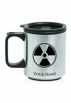 Personalized Stainless Steel Coffee Mug - RADIOACTIVE SYMBOL