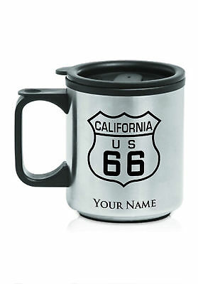 Personalized Stainless Steel Coffee Mug - ROUTE 66