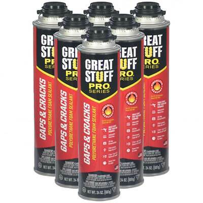 Great Stuff PRO Gaps and Crack, 6 - 24 oz cans