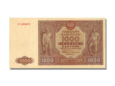 Billets Pologne (Banknotes Poland), 1000 Zlotych Type 1946